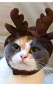 חתול כלב כתרים ונזרים בנדנות וכובעים בגדים לכלבים בד קיץ/אביב חורף חדש מחממי ראש חג מולד מוצק עבור חיות מחמד