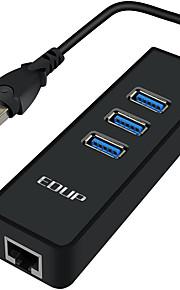 edup ep-9606 usb3.0 gigabit ethernet lan 3-port 3.0hub hub rj45 kabel omvandlare