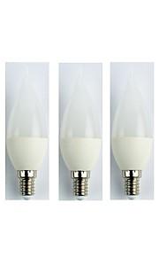 5pcs 3W E14 LED-globepærer C35 5 leds SMD 3528 Kjølig hvit 225lm 6400K AC 110-240V