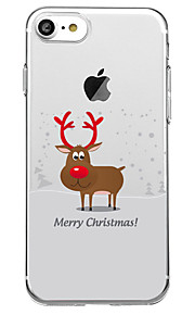 Case For Apple iPhone X iPhone 8 Plus Pattern Back Cover Christmas Animal Soft TPU for iPhone X iPhone 8 Plus iPhone 8 iPhone 7 Plus
