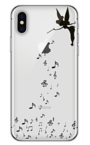Custodia Per Apple iPhone X iPhone 8 Plus Fantasia/disegno Custodia posteriore Con logo Apple Morbido TPU per iPhone X iPhone 8 Plus
