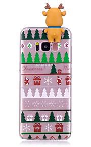 Kılıf Na Samsung Galaxy S8 Plus S8 Odporne na wstrząsy Etui na tył Kreskówka 3D Święta Bożego Narodzenia Miękkie TPU na S8 S8 Plus S7