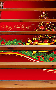 Weihnachten Romantik Landschaft Wand-Sticker Geh?use Flugzeug-Wand Sticker 3D Wand Sticker Dekorative Wand Sticker Hochzeits Sticker,