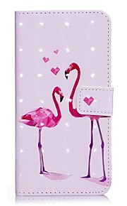 Case For Apple iPhone X iPhone 8 Card Holder Wallet with Stand Full Body Flamingo Hard PU Leather for iPhone X iPhone 8 Plus iPhone 8