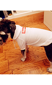 Hond Hoodies Hondenkleding Effen Wit Zwart Katoen Kostuum Voor huisdieren Heren Dames Stijlvol