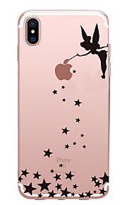 Kılıf Na Apple iPhone X iPhone 8 iPhone 6 iPhone 7 Plus iPhone 7 Ultra cienkie Wzór Czarne etui Seksowna dziewczyna Miękkie TPU na iPhone