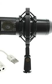 Characteristic BM800 LedningMicrophoneSæt Computer Mikrofon Kondensator Mikrofon