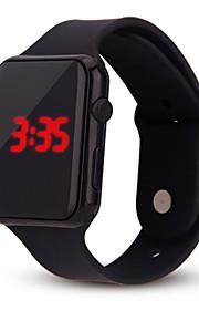 Dames Digitaal Digitaal horloge Chinees Chronograaf Vrijetijdshorloge Silicone Band Informeel minimalistische Modieus Cool Zwart Wit