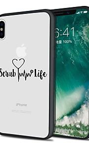 Custodia Per Apple iPhone X iPhone 8 Plus Fantasia/disegno Custodia posteriore Frasi famose Morbido TPU per iPhone X iPhone 8 Plus iPhone