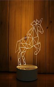 1 sæt 3d stemning nat lys hånd følelse dæmpbar usb powered gave lampe wildebeest