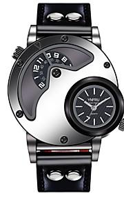 YNFRU Homens Quartzo Relógio de Pulso Chinês Mostrador Grande Relógio Casual Couro Banda Casual Relógio Criativo Único Fashion Legal
