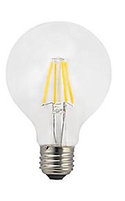1pc g80 4w e27 led filament lys 360lm cob edison pærer varm hvid ac220-240v