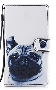 hoesje Voor Samsung Galaxy J5 (2017) J3 (2017) Kaarthouder Portemonnee met standaard Flip Patroon Volledige behuizing Hond Hard PU-leer