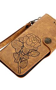 Кейс для Назначение SSamsung Galaxy S8 Plus S8 Бумажник для карт Кошелек со стендом Флип С узором Магнитный Чехол Цветы Твердый