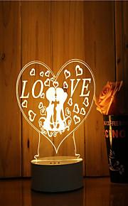 1 sæt 3d stemning nat lys hånd følelse dæmpbar usb powered gave lampe romantisk kærlighed
