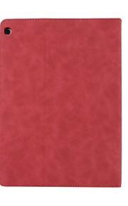 caso para apple huawei m3 10.1 bah-w09 / al0010 titular de la tarjeta de sueño automático / despertar todo el cuerpo de color sólido de