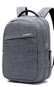 15,6 Zoll Laptop wasserdichtes Nylon Tuch mit USB Lade Port Notebook Tasche Rucksack für MacBook / Dell / PS / Lenovo / Sony / Acer /
