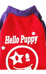 Dog Sweatshirt Dog Clothes Casual/Daily Print Blue Purple Costume For Pets