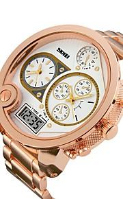 Homens Crianças Relógio Esportivo Relógio de Moda Relógio Casual Chinês Digital Calendário Impermeável Dois Fusos Horários Relógio Casual