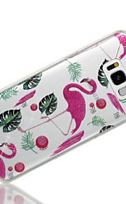 Custodia Per Samsung Galaxy S8 Plus S8 IMD Fantasia/disegno Per retro Fenicottero Glitterato Morbido TPU per S8 Plus S8 S7 edge S7