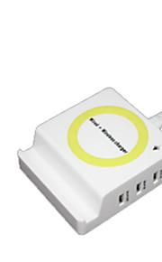 شاحن لاسلكي الهاتف شاحن أوسب USB شاحن لاسلكي Qi مخرجUSB 1 1A AC 220V iPhone X iPhone 8 Plus iPhone 8 S8 Plus S8 S7 Active S7 edge S7 S6