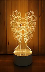 1 sæt 3d stemning nat lys hånd følelse dæmpbar usb powered gave lampe træ