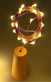 1pc 10led 1m sol vin flaske stopper kobber fairy strip wire utendørs fest dekorasjon nyhet natt lampe diy