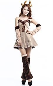 Renifer Kostiumy Cosplay Kobieta Boże Narodzenie Festiwal/Święto Kostiumy na Halloween Beige Wielokolorowa