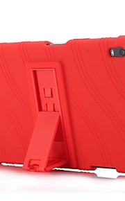 Wellenmuster Muster Silikonkautschuk Gel Haut Fall Abdeckung mit Halter für Lenovo Tab 4 8 plus (8704) 8.0 Zoll Tablet PC
