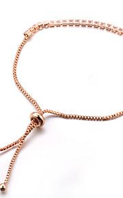 Damskie Bransoletki i łańcuszki na rękę Kryształ Klasyczny Modny Słodkie Stop Line Shape Biżuteria Impreza Prezent Party Wieczór