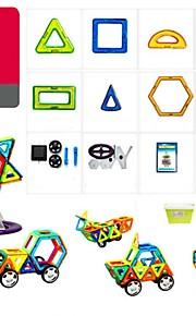 마그네틱 블록 장난감 트럭 비행기 장난감 라운드 광장 전사 차 건축 운송기기 특별한 디자인 변형 가능 부모 - 자녀 상호 작용 소프트 플라스틱 아이 179 조각
