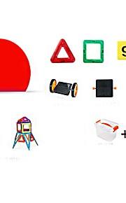 마그네틱 블록 장난감 트럭 건설차량 비행기 장난감 라운드 광장 전사 차 건축 사람 동물 운송기기 변형 가능 부모 - 자녀 상호 작용 아이 90 조각