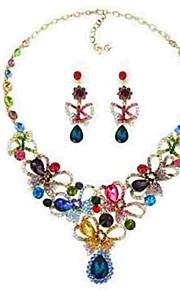 Dame Stangøreringe Halskæde Krystal Rhinsten Klassisk Mode Overdimensionerede Bryllup Ceremoni Krystal Simuleret diamant Legering 1