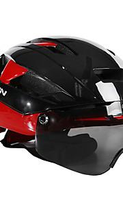 MOON バイクヘルメット CE サイクリング 16 通気孔 調整可 ワンピース グーグルとのヘルメット 都市 超軽量(UL) 青少年 EVA マウンテンサイクリング ロードバイク レクリエーションサイクリング サイクリング 登山