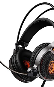 sades r1 over ear cuffie cablate cuffie auricolari da gioco in plastica isolanti con microfono con controllo del volume luminoso