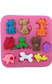Cookie Cutters Cat Dog Pig For Candy Chocolate Cake Cookie For Cake Silica Gel Baking Tool DIY Birthday Valentine's Day Thanksgiving