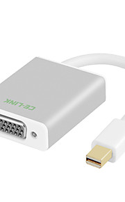 CE-Link Mini Displayport Conversor, Mini Displayport to VGA Conversor Macho-Macho 0.1m (0.3ft)