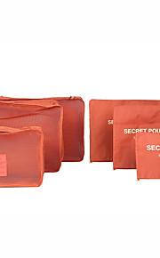 6 مجموعات حقيبة السفر / منظم السفر / منظم أغراض السفر سعة كبيرة / مقاوم للماء / مكتشف الغبار الصدرية / ملابس أكسفورد القماش السفر