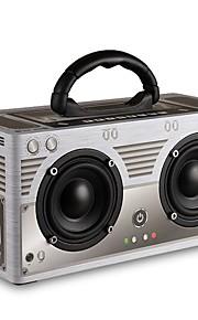 W9 Bluetooth högtalare Bluetooth 4.0 Audio (3.5 mm) 3,5 mm AUX Bokhyllehögtalare Grå