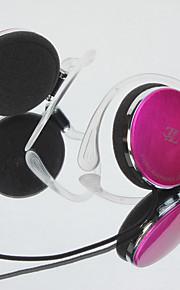 LIZU Q71 머리띠 유선 헤드폰 동적 구리 모바일폰 이어폰 마이크 포함 헤드폰