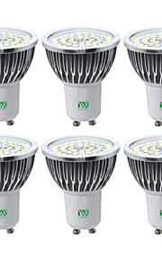 YWXLIGHT® 6pcs 7W 600-700 lm GU10 LED Spotlight 48 leds SMD 2835 Warm White Cold White Natural White