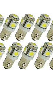 SENCART 10pcs 1.5 W 90 lm G4 E11 LED-lamper med G-sokkel T 5 leds SMD 5050 Dekorativ Varm hvit Hvit Grønn Gul Blå Rød DC 12V