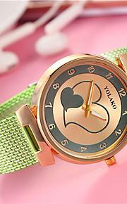 Mulheres Chinês Quartzo Relógio Casual Lega Banda Heart Shape Fashion Preta Branco Azul Vermelho Verde Dourada Amarelo Rose