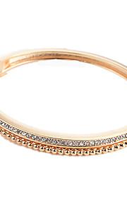Dame Armbånd Kvadratisk Zirconium Mode Sød Zirkonium Legering Guld Sort Sølv Cirkelformet Smykker Daglig I-byen-tøj Kostume smykker