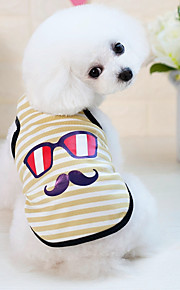 Dogs Cats Furry Small Pets Pets Vest Dog Clothes Striped Cartoon Yellow Blue Pink Cotton / Polyester Costume For Pets Male Japan and