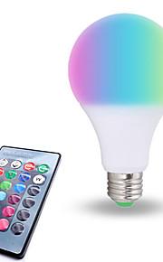 1pç 10W 800lm lm E26/E27 Lâmpada Redonda LED 6pcs Contas LED SMD 5050 Regulável Decorativa Controle Remoto RGB Branco 85-265V