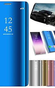 ケース 用途 Samsung Galaxy S9 S9 Plus 耐衝撃 スタンド付き ミラー オートスリープ/ウェイクアップ フルボディーケース ソリッド ハード PUレザー のために S9 Plus S9