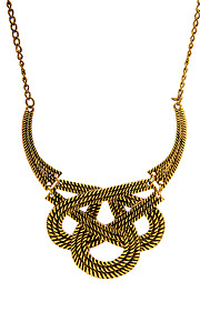 Dame Halskædevedhæng - Vintage Europæisk Geometrisk form Guld Sølv 41cm Halskæder Til Bar Gade
