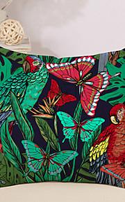 1 Stk. Bomuld/Linned Pudebetræk Nyskabende Puder, Blomstret Sommerfugl Dyr Kreativ Tropisk