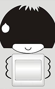 Väggdekal Klistermärken för strömbrytare Toalettstickers - Väggstickers Flygplan Abstrakt Kan tas bort
